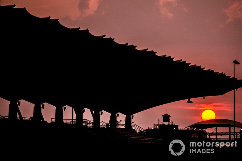 Sunset over the circuit