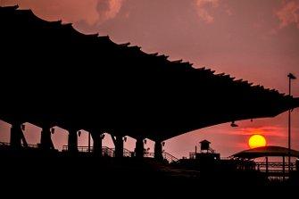 Sonnenuntergang am Sepang International Circuit