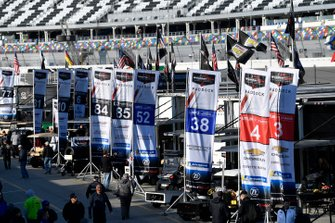 Flags in paddock