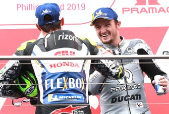 Podio: secondo classificato Cal Crutchlow, Team LCR Honda, terzo classificato Jack Miller, Pramac Racing