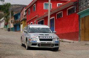 Rally winner Marcos Ligato, Mitsubishi Lancer EVO
