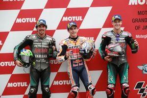 Polesitter Marc Marquez, Repsol Honda Team, second place Franco Morbidelli, Petronas Yamaha SRT, third place Fabio Quartararo, Petronas Yamaha SRT