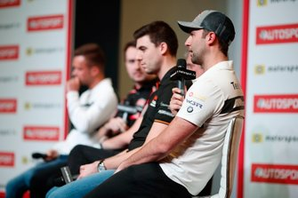 BTCC drivers Dan Cammish and Andrew Jordan are interviewed on the Autosport stage