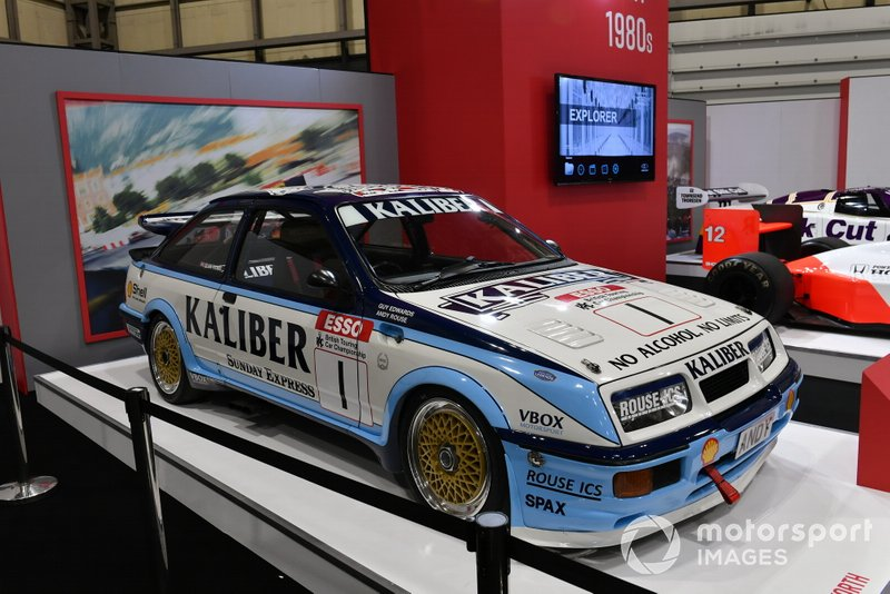 Andy Rouse's Ford RS500 Cosworth on the Autosport stand