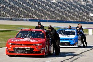 Stefan Parsons, JD Motorsports, Chevrolet Camaro TeamJDMotorsports.com and Garrett Smithley, JD Motorsports, Chevrolet Camaro Contec, Inc.