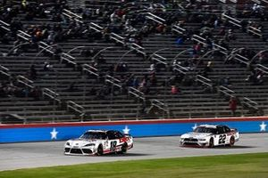 Harrison Burton, Joe Gibbs Racing, Toyota Supra Dex Imaging and Austin Cindric, Team Penske, Ford Mustang Discount Tire