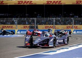 Sam Bird, Virgin Racing, Audi e-tron FE06, Brendon Hartley, Dragon Racing, Penske EV-4