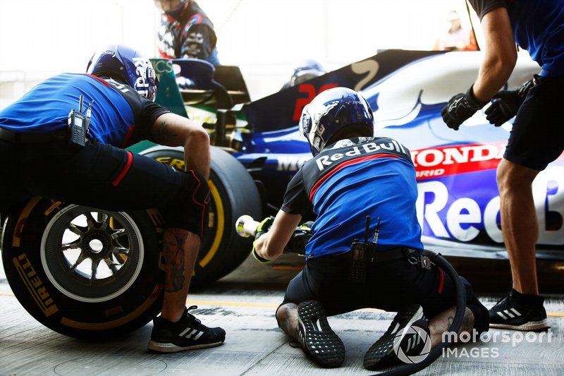 Toro Rosso hace un pitstop
