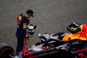 Max Verstappen, Red Bull Racing, on the grid after Qualifying