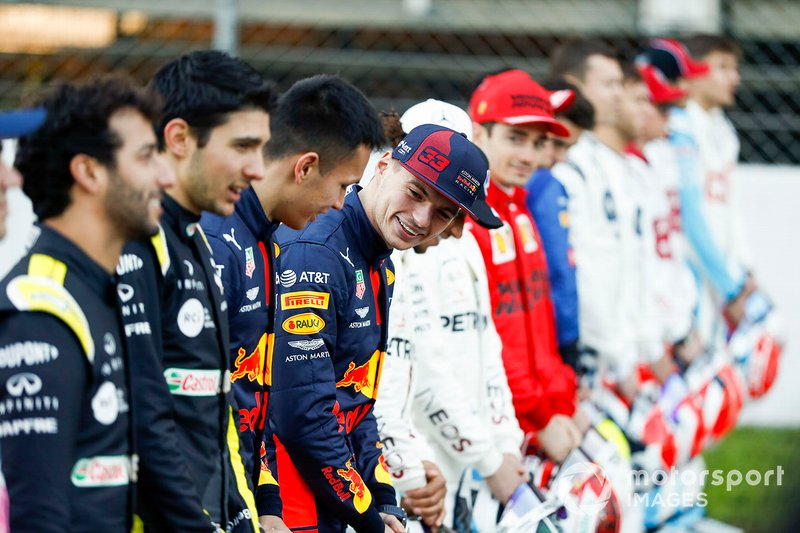 Alexander Albon, Red Bull Racing, and Max Verstappen, Red Bull Racing