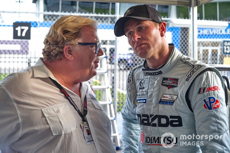 #55 Mazda Team Joest Mazda DPi, DPi: Ryan Hunter-Reay with Stephen Charlsley of Multimatic