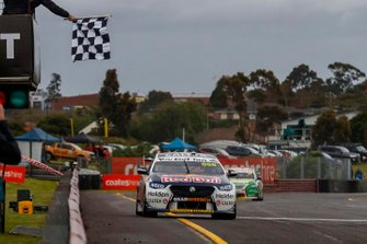 Jamie Whincup, Triple Eight Race Engineering Holden takes the chequered flag