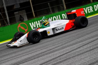 Bruno Senna drives the McLaren MP4/4