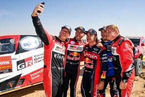 #307 Toyota Gazoo Racing: Bernhard Ten Brinke, Tom Colsoul, #304 Toyota Gazoo Racing: Giniel De Villiers, #305 JCW X-Raid Team: Carlos Sainz, #303 JCW X-Raid Team: Jakub Przygonski
