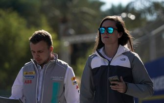 Abbie Eaton, Jaguar VIP car on the track walk