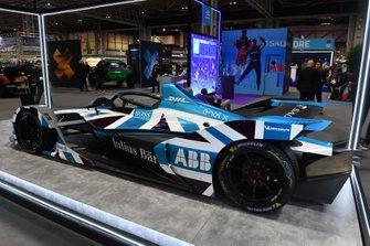 The car on the Formula E stand