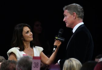 Presenter David Coulthard is interviewed