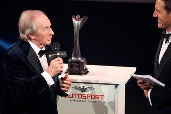 Sir Jackie Stewart presents the Gregor Grant award for the Monaco Grand Prix