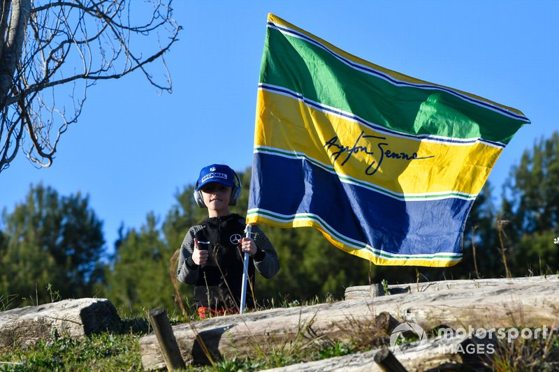 A young Ayrton Senna fan