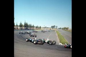 Renn-Action beim GP Mexiko 1965 in Mexico City