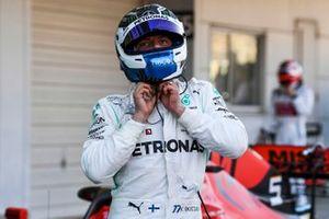 Valtteri Bottas, Mercedes AMG F1, 1st position, in Parc Ferme