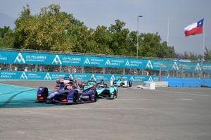 Robin Frijns, Virgin Racing, Audi e-tron FE06 Mitch Evans, Jaguar Racing, Jaguar I-Type 4, James Calado, Jaguar Racing, Jaguar I-Type 4
