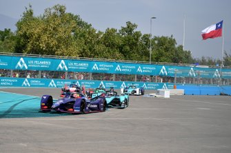 Robin Frijns, Virgin Racing, Audi e-tron FE06 Mitch Evans, Jaguar Racing, Jaguar I-Type 4, James Calado, Jaguar Racing, Jaguar I-Type 4