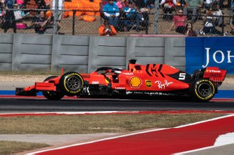Sebastian Vettel, Ferrari SF90, retires with broken suspension