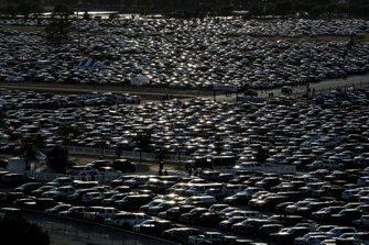 Parkplätze am Texas Motor Speedway in Fort Worth