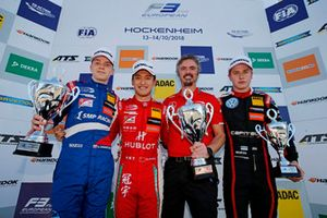 Podium: Race winner Guanyu Zhou, PREMA Theodore Racing Dallara F317 - Mercedes-Benz. second place Robert Shwartzman, PREMA Theodore Racing Dallara F317 - Mercedes-Benz, third place Jüri Vips, Motopark Dallara F317 - Volkswagen