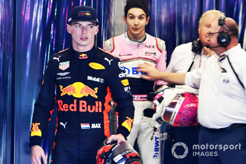 Max Verstappen, Red Bull Racing dan Esteban Ocon, Racing Point Force India bertengkar usai balapan GP Brasil