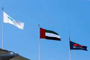 UAE flag flies alongside the F1 flag