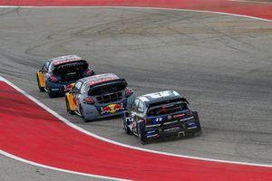Johan Kristoffersson, PSRX Volkswagen Sweden, Timmy Hansen, Team Peugeot Total, Sébastien Loeb, Team Peugeot Total