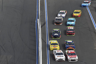 Ryan Newman, Richard Childress Racing, Chevrolet Camaro Grainger / American Red Cross, David Ragan, Front Row Motorsports, Ford Fusion MDS Transport, Chase Elliott, Hendrick Motorsports, Chevrolet Camaro SunEnergy1, Ryan Blaney, Team Penske, Ford Fusion Menards/Pennzoil