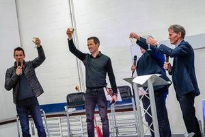 Sébastien Ogier, Julien Ingrassia, Malcolm Wilson, M-Sport celebrations