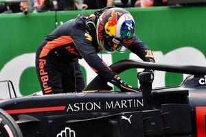 Daniel Ricciardo, Red Bull Racing, nel parco chiuso