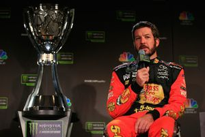 Martin Truex JR., driver of the #78 Bass Pro Shops / 5-hour ENERGY Toyota talks to the media during media day