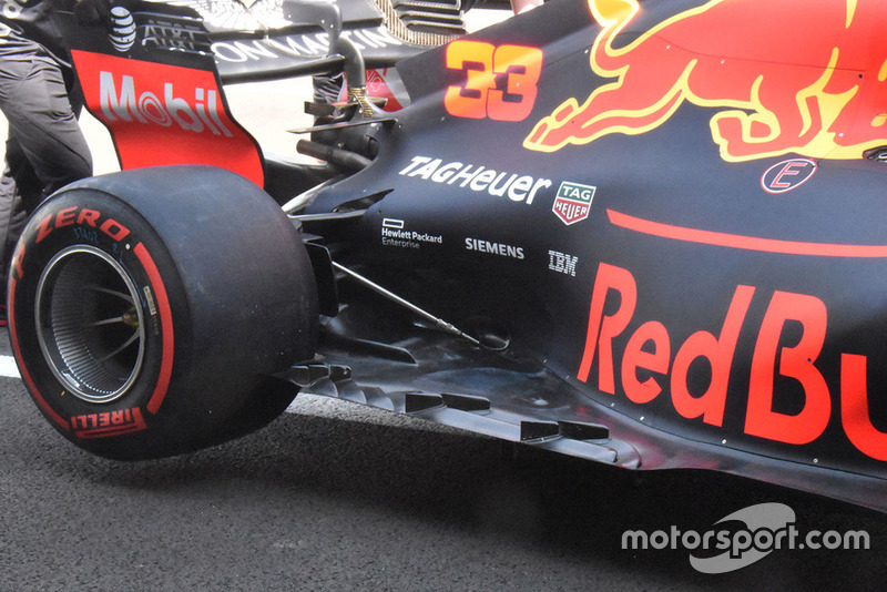 Red Bull Racing RB14 floor detail