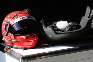 Simon Pagenaud helmet and seat insert