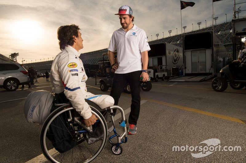 Alex Zanardi, BMW Team RLL, Fernando Alonso, Wayne Taylor Racing