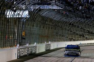 Justin Haley, GMS Racing, Chevrolet Silverado Fraternal Order Of Eagles drives under the checkered flag to win