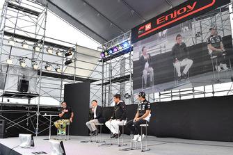 (L to R): Satoru Nakajimi, Aguri Suzuki and Takuma Sato