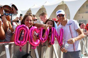 Esteban Ocon, Racing Point Force India et des fans