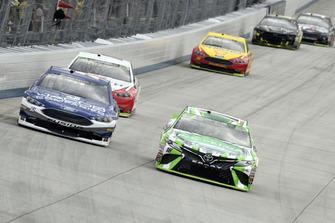 Kyle Busch, Joe Gibbs Racing, Toyota Camry Interstate Batteries, B.J. McLeod, Rick Ware Racing, Ford Fusion Jacob Companies