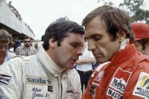 Alan Jones y su compañero de Williams Carlos Reutemann
