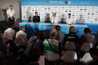 Mark Preston, Techeetah, Susie Wolff, Venturi, Allan McNish, Team Principal, Audi Sport Abt Schaeffler, in the press conference