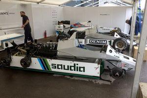 Williams FW08B (6 wheel) and FW08C (4 wheel)