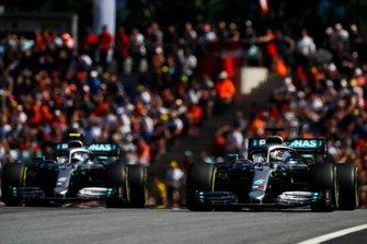 Lewis Hamilton, Mercedes AMG F1 W10 and Valtteri Bottas, Mercedes AMG W10