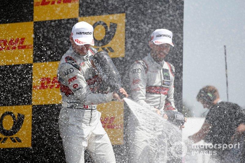 Podium: Nico Müller, Audi Sport Team Abt Sportsline and René Rast, Audi Sport Team Rosberg