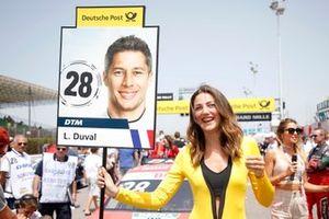 Grid girl of Loic Duval, Audi Sport Team Phoenix